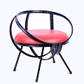 <b></b> Round velk sofa chair