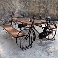 <b></b> Dining Table Bicycle 2 (Wood Natural)