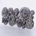 <b></b> Plated Iron Black Roses